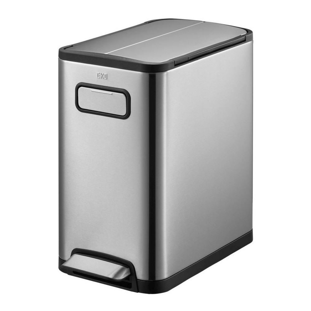 EKO Eco Fly Step Can Stainless Steel Waste Bin, 20L, Silver