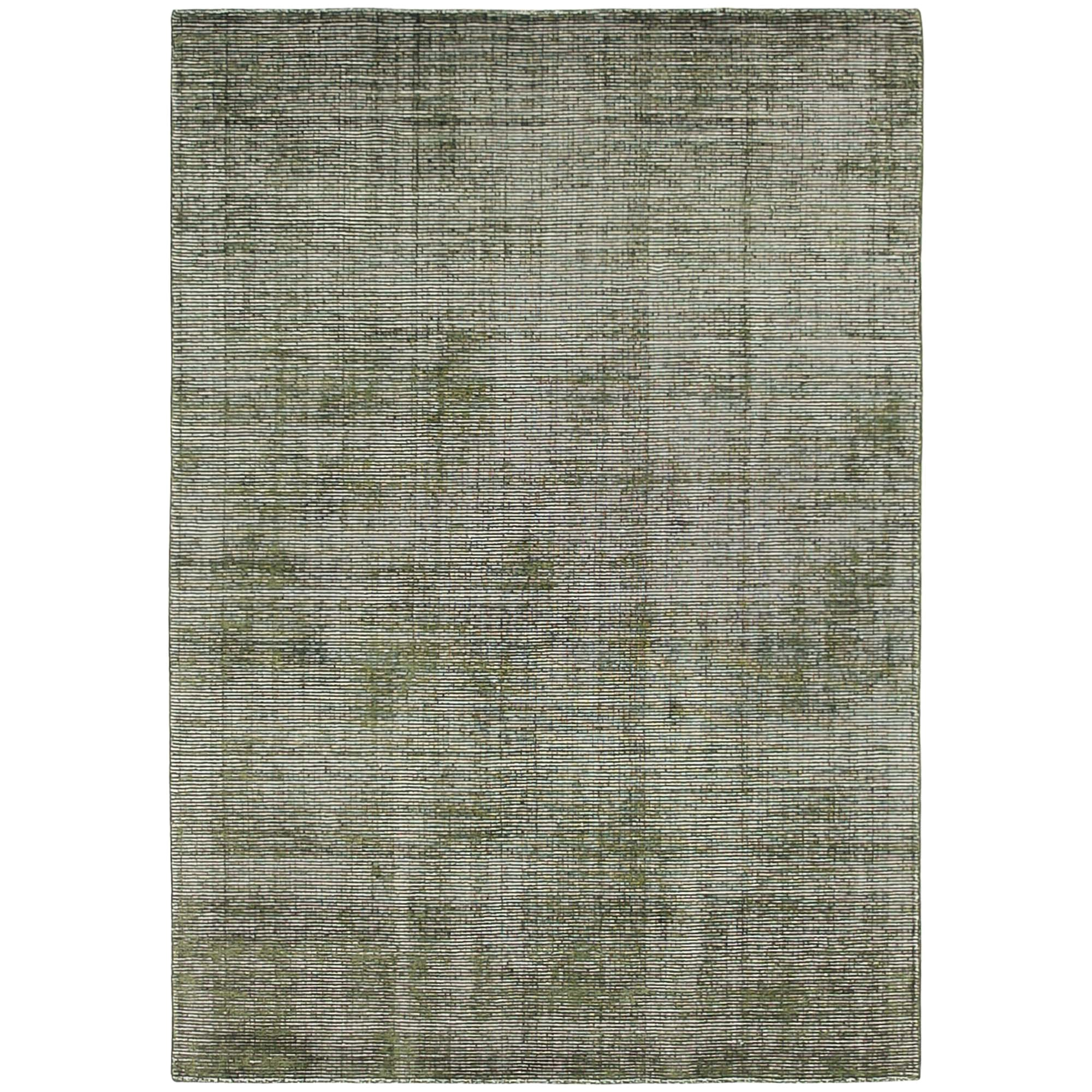 Elements Hand Knotted Wool Rug, 160x230cm, Green