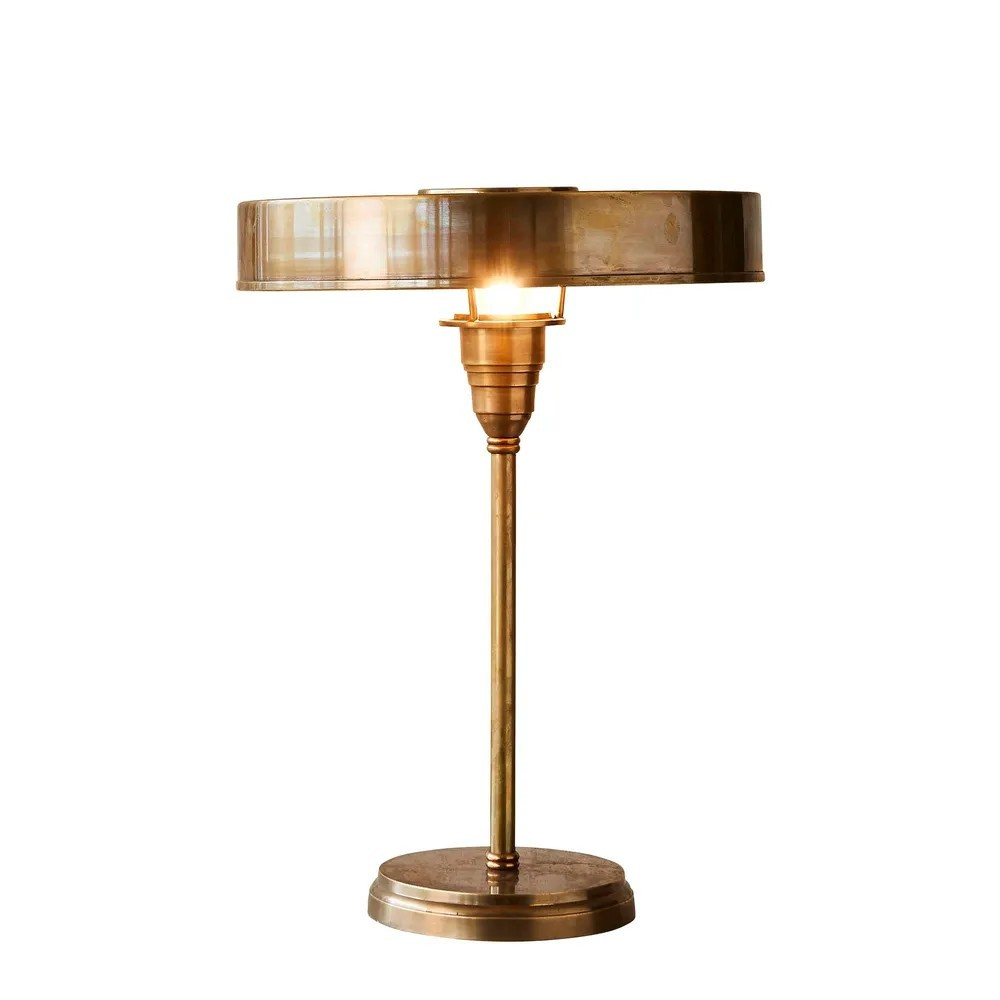 Bankstown Brass Table Lamp, Large, Antique Brass