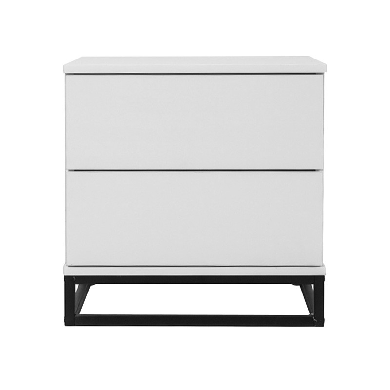 Margo Bedside Table, White / Black