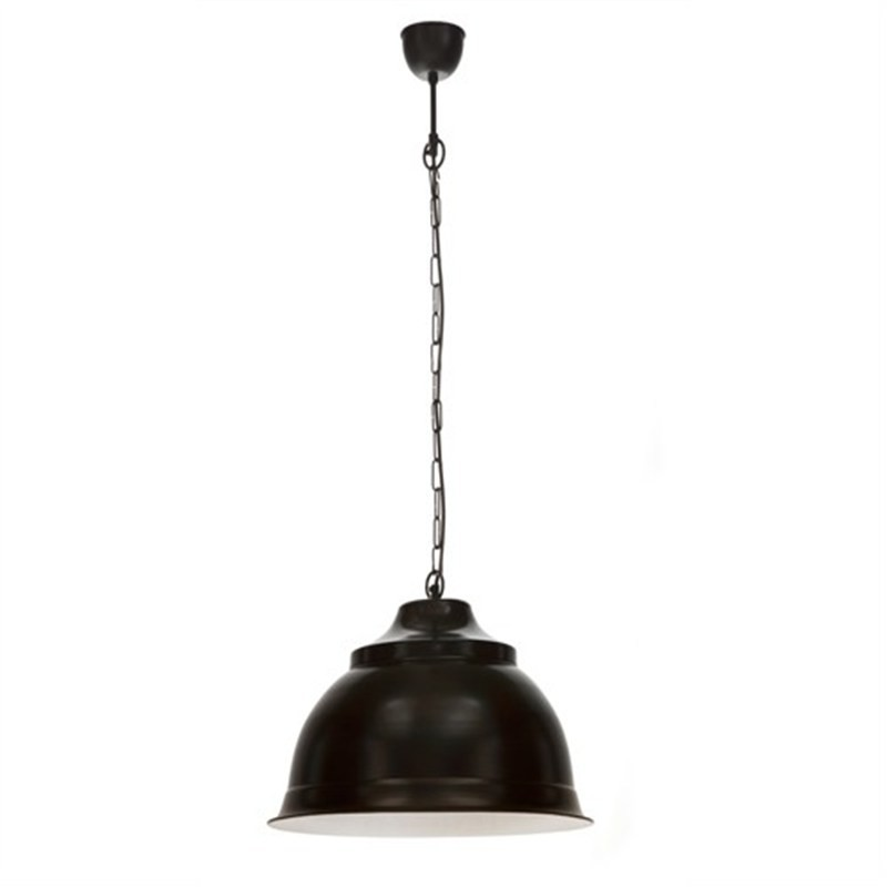 Brasserie Large Enamel Pendant Light - Black
