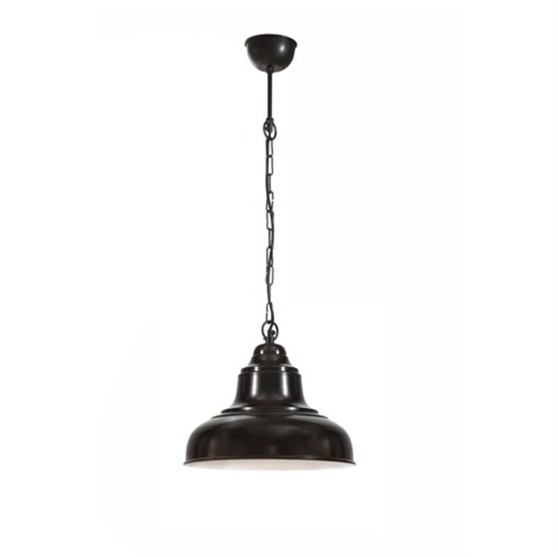 Brasserie Small Enamel Pendant Light - Black