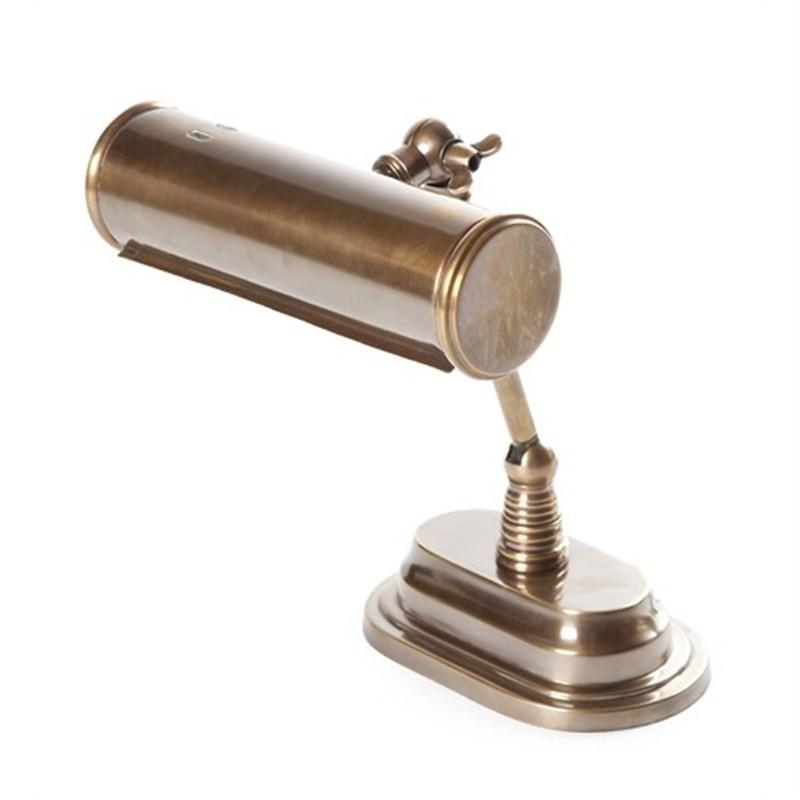 Carlisle Metal Bankers Table Lamp - Brass