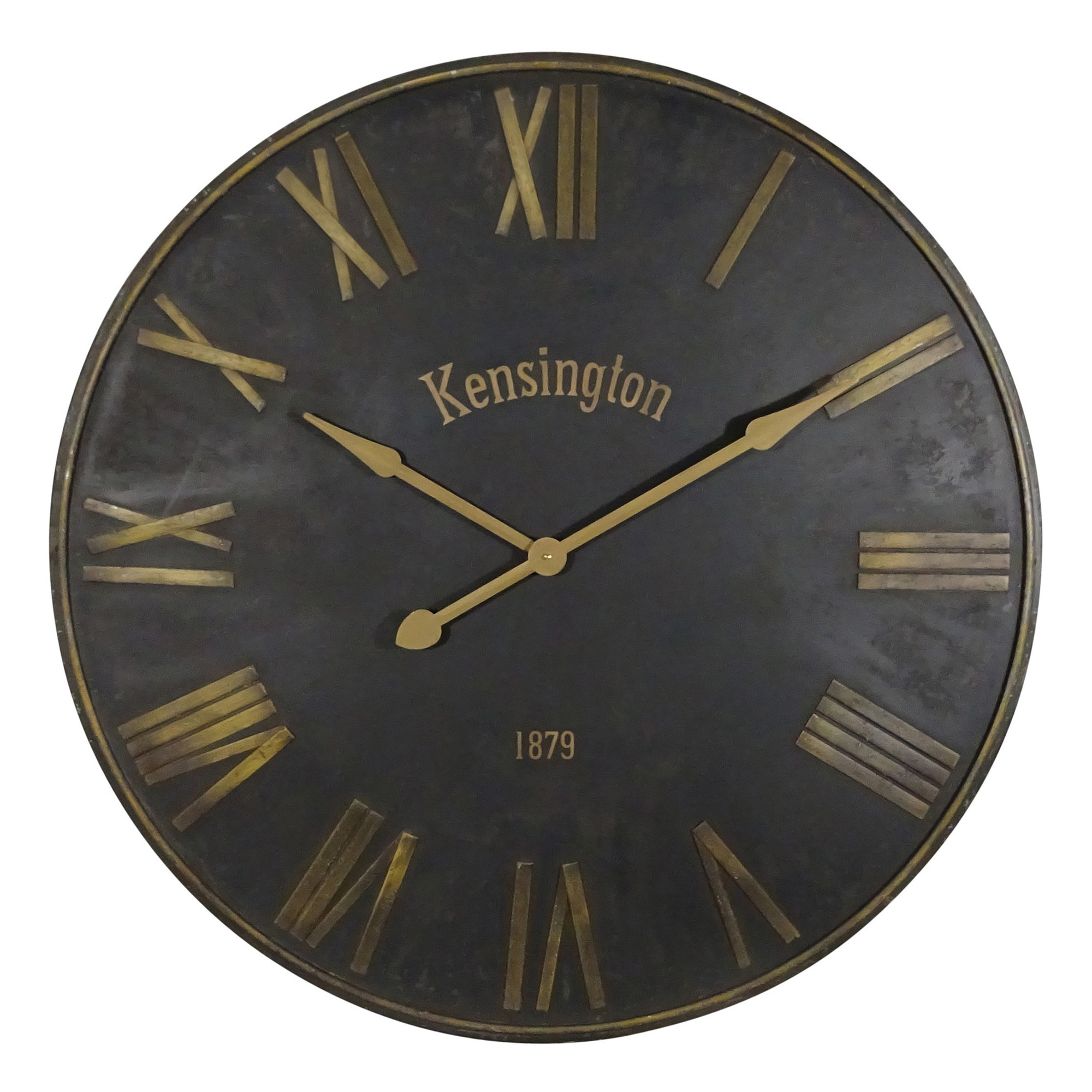 Kensington Iron Round Wall Clock, 92cm