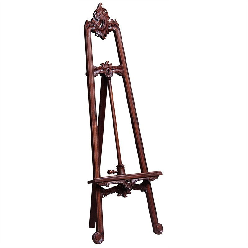Van Goah Solid Mahogany Timber Display Easel, Mahogany