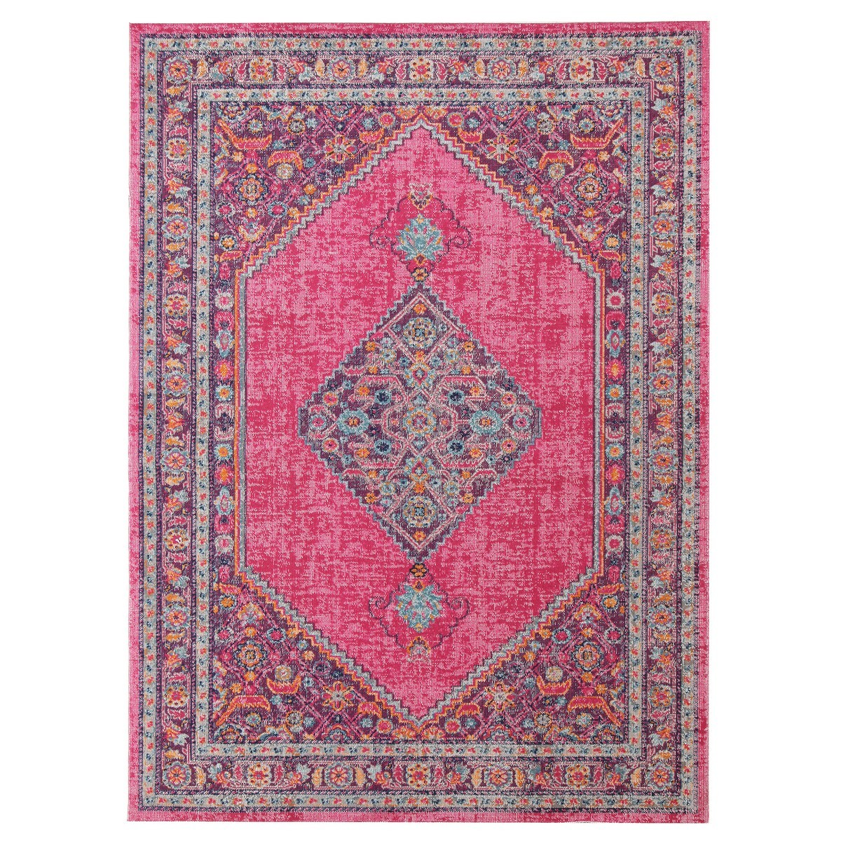 Eternal Whisper Diamond Turkish Made Oriental Rug, 200x290cm, Pink