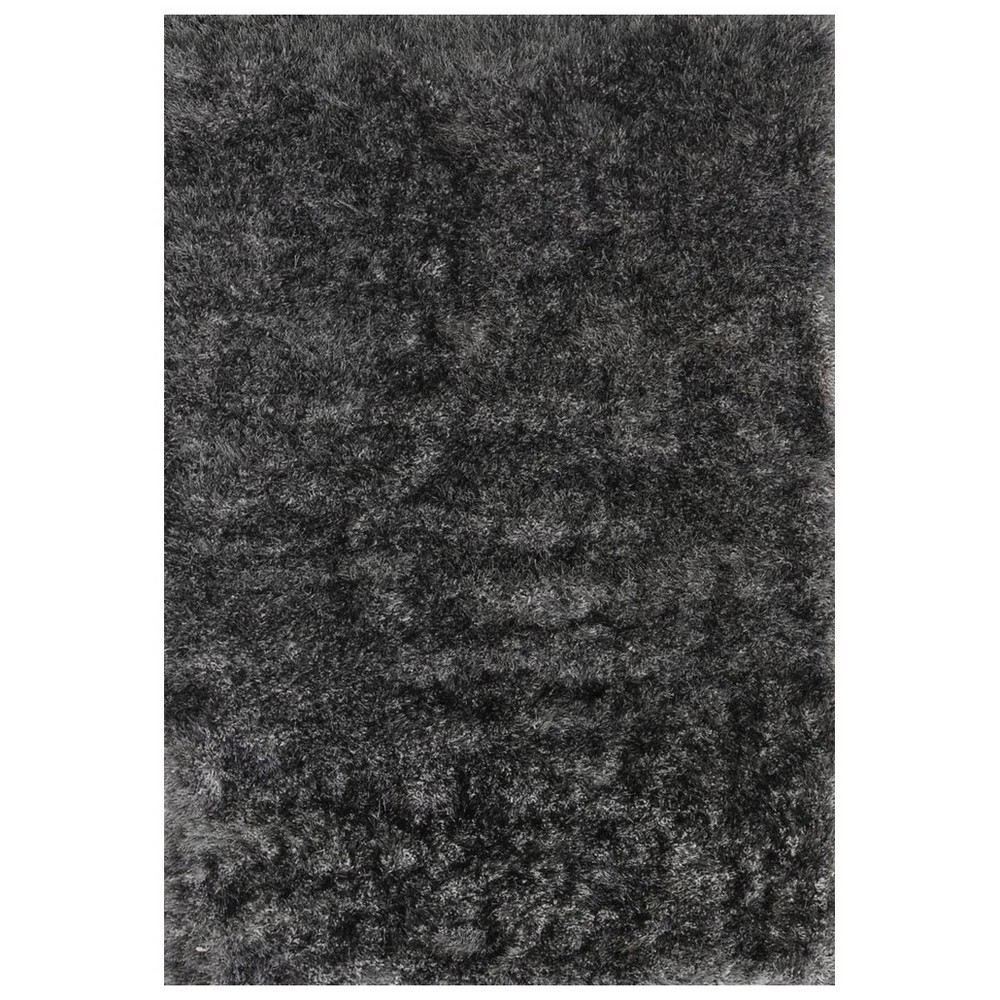 Eva Velvet Super Soft Shaggy Rug, 120x170cm, Grey