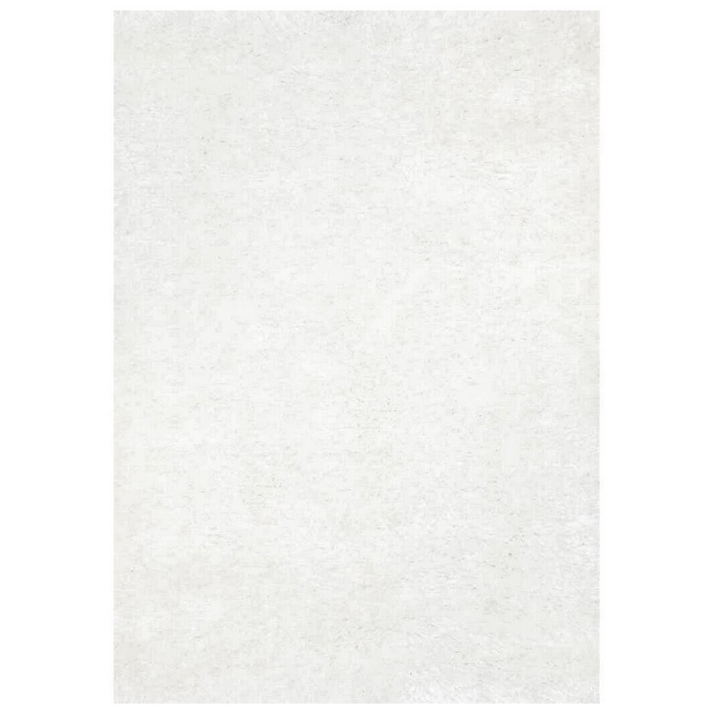 Eva Velvet Super Soft Shaggy Rug, 120x170cm, White