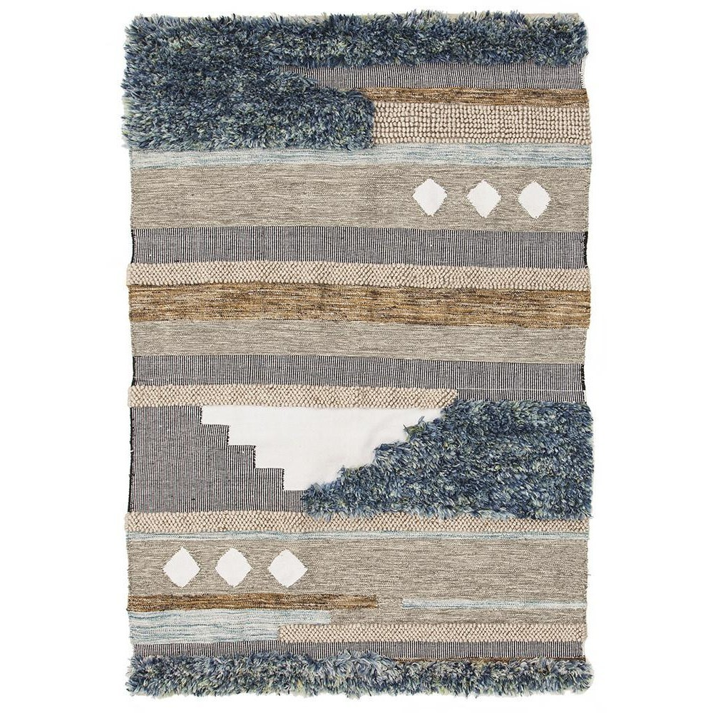 Fusion Stir Handmade Wool & Cotton Rug, 190x280cm