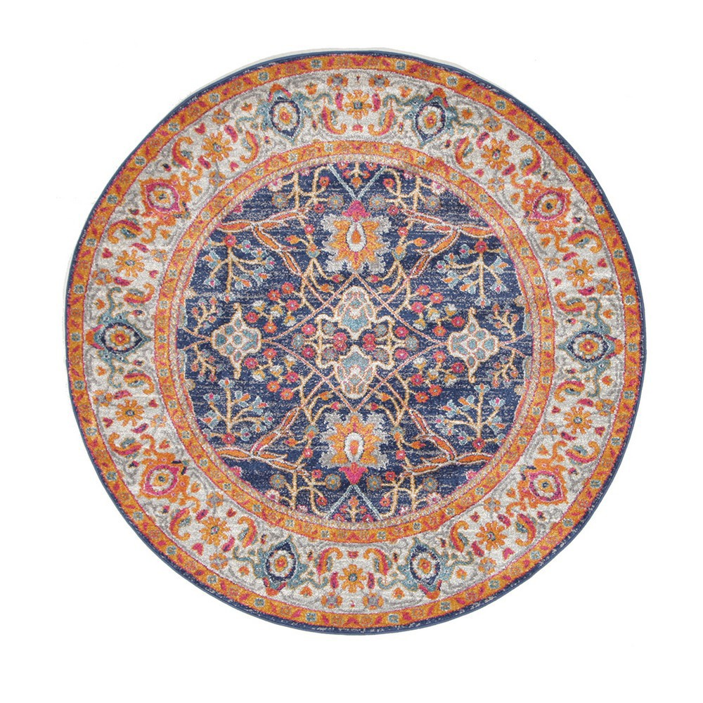 Evoke Splash Turkish Made Oriental Round Rug, 150cm, Multi