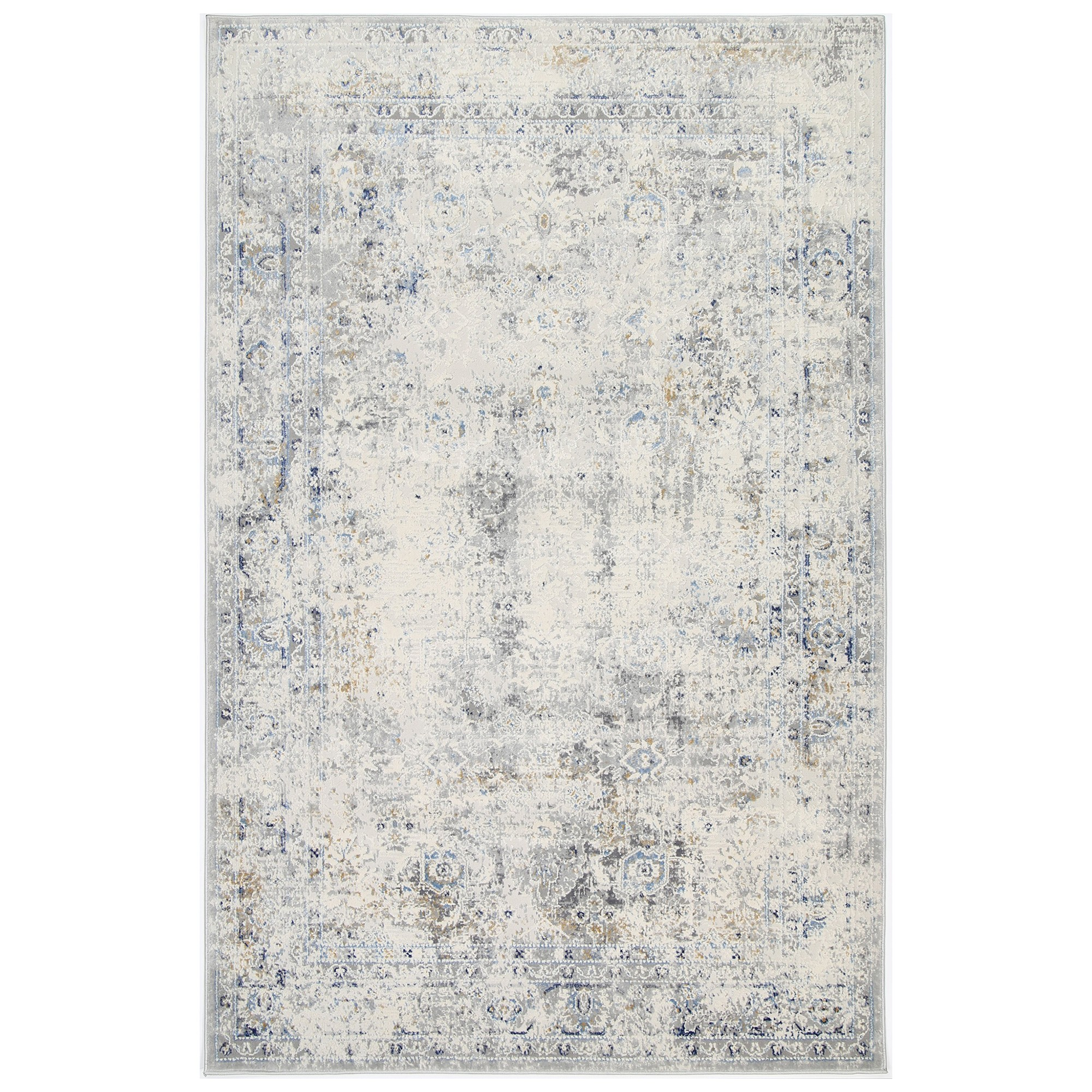 Expressions No.07 Transitional Rug, 400x300cm, Beige / Blue