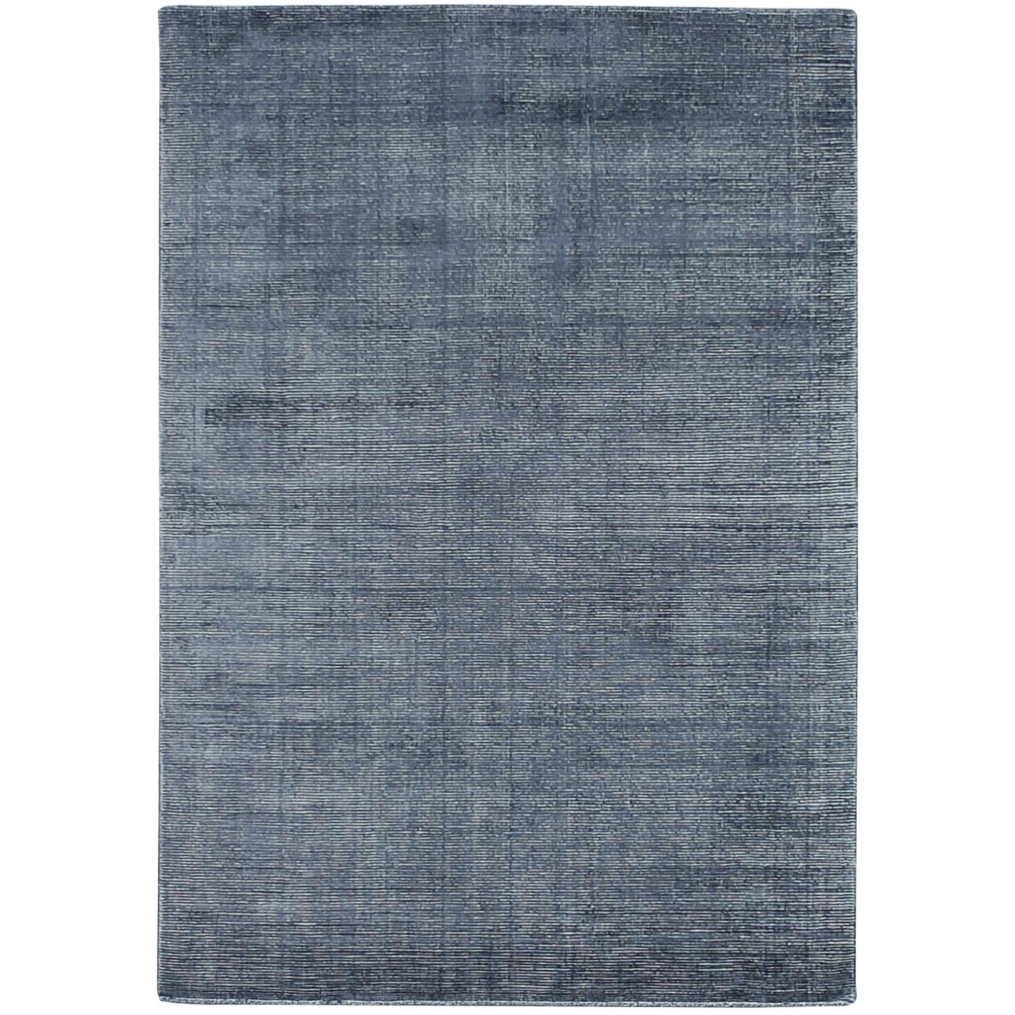 Elements Hand Knotted Wool Rug, 160x230cm, Blue