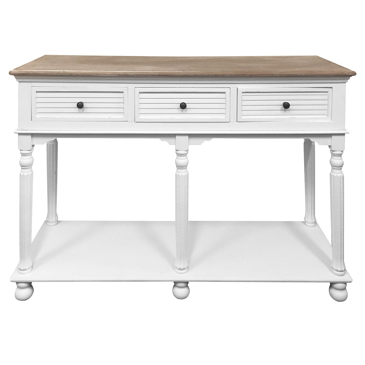Bondy 2 Tone 3 Drawer Hall Table, 120cm