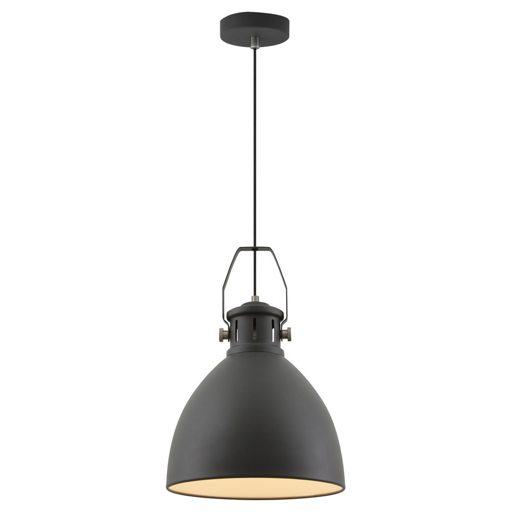 Fabrica Metal Industrial Pendant Light, Large, Black