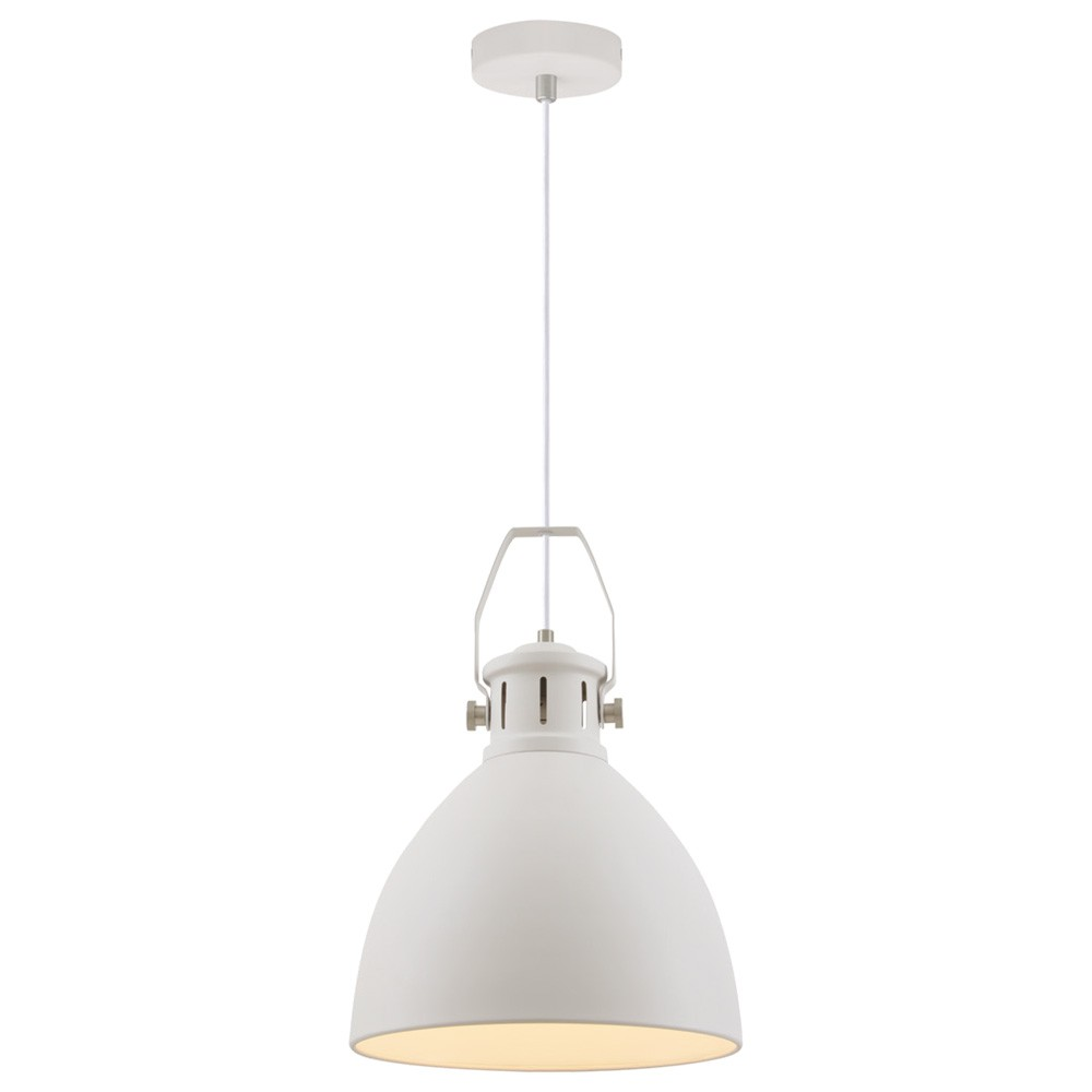 Fabrica Metal Industrial Pendant Light, Large, White