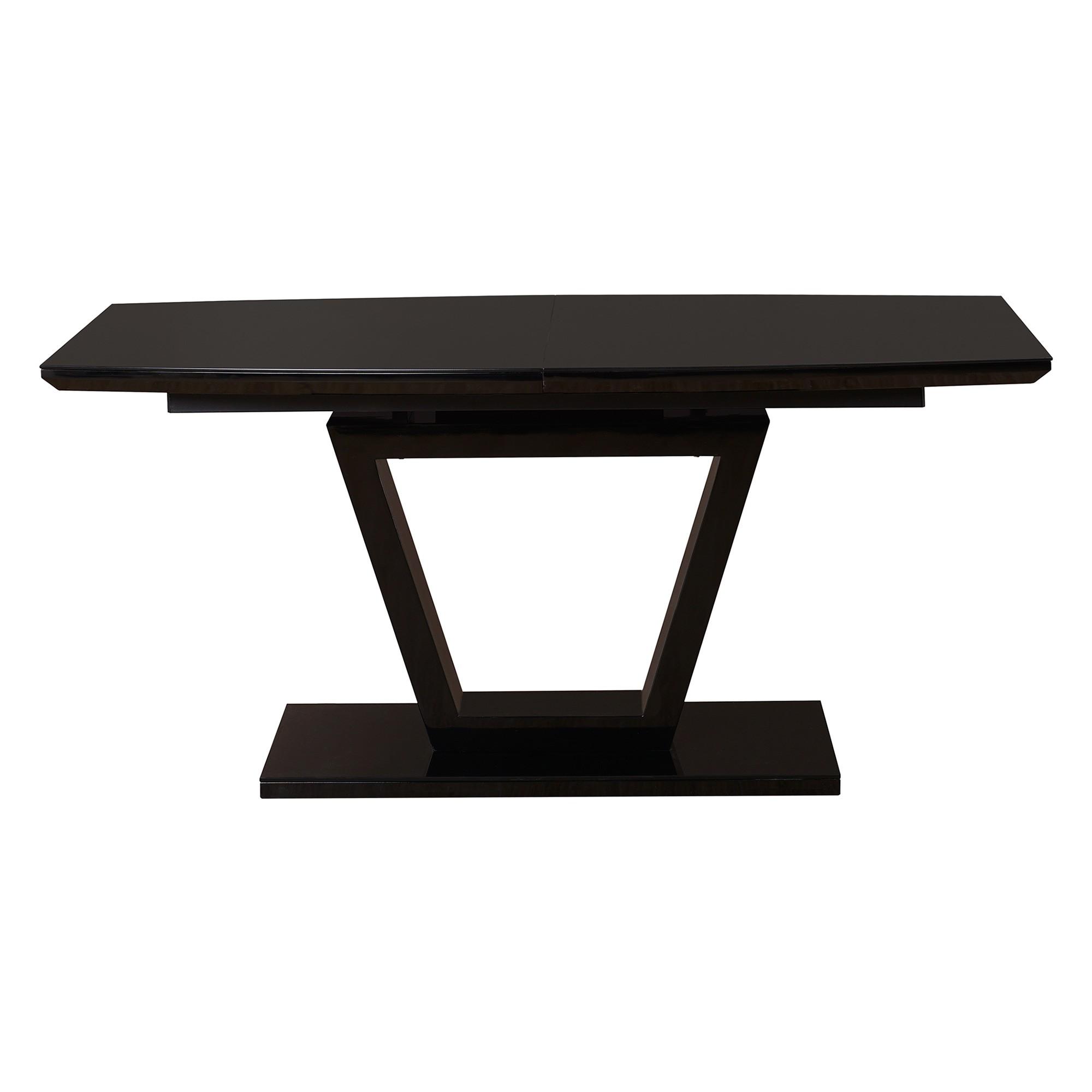 Henri High Gloss Extension Dining Table, 160-200cm, Black