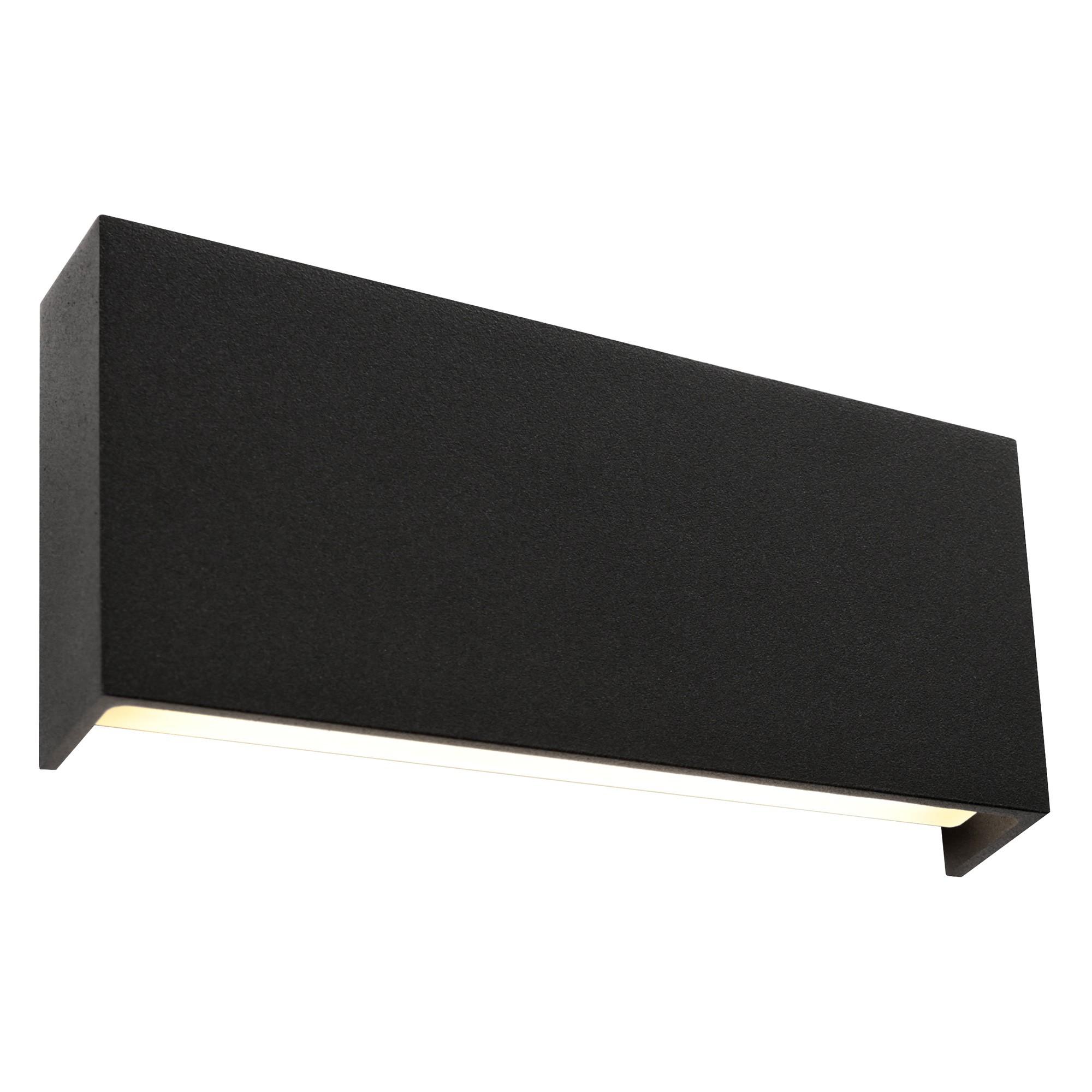 Fargo IP54 Exterior LED Wall Light, Black