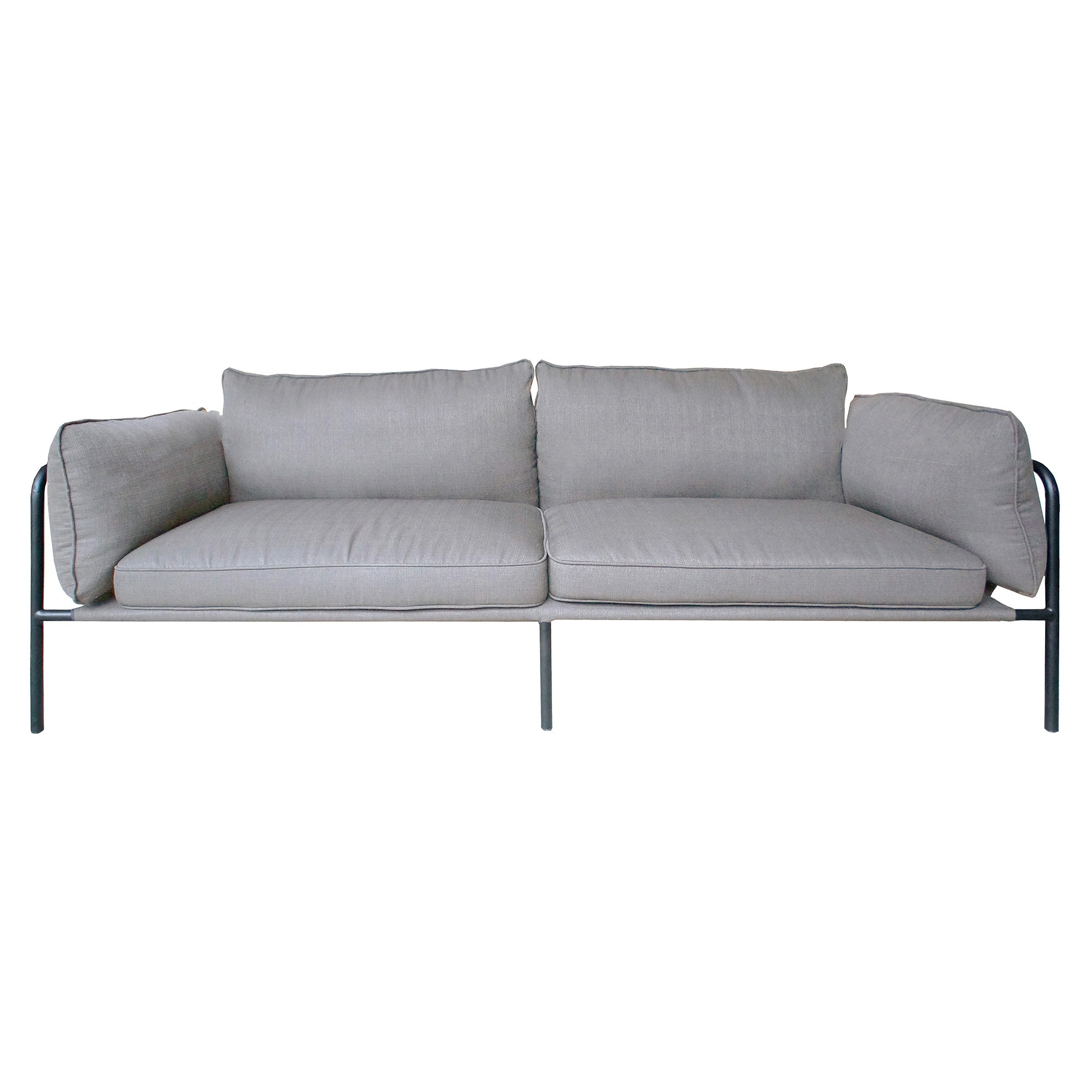 Bob Fabric Sofa, 3 Seater, Grey