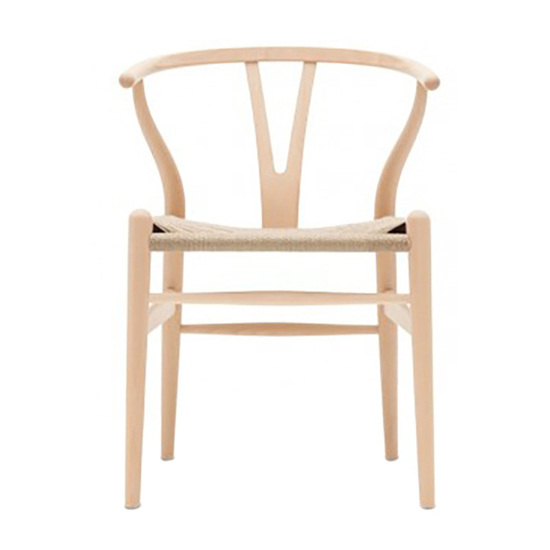 Wishbone Ash Timber Chair, Twine Seat, Light Oak / Natural