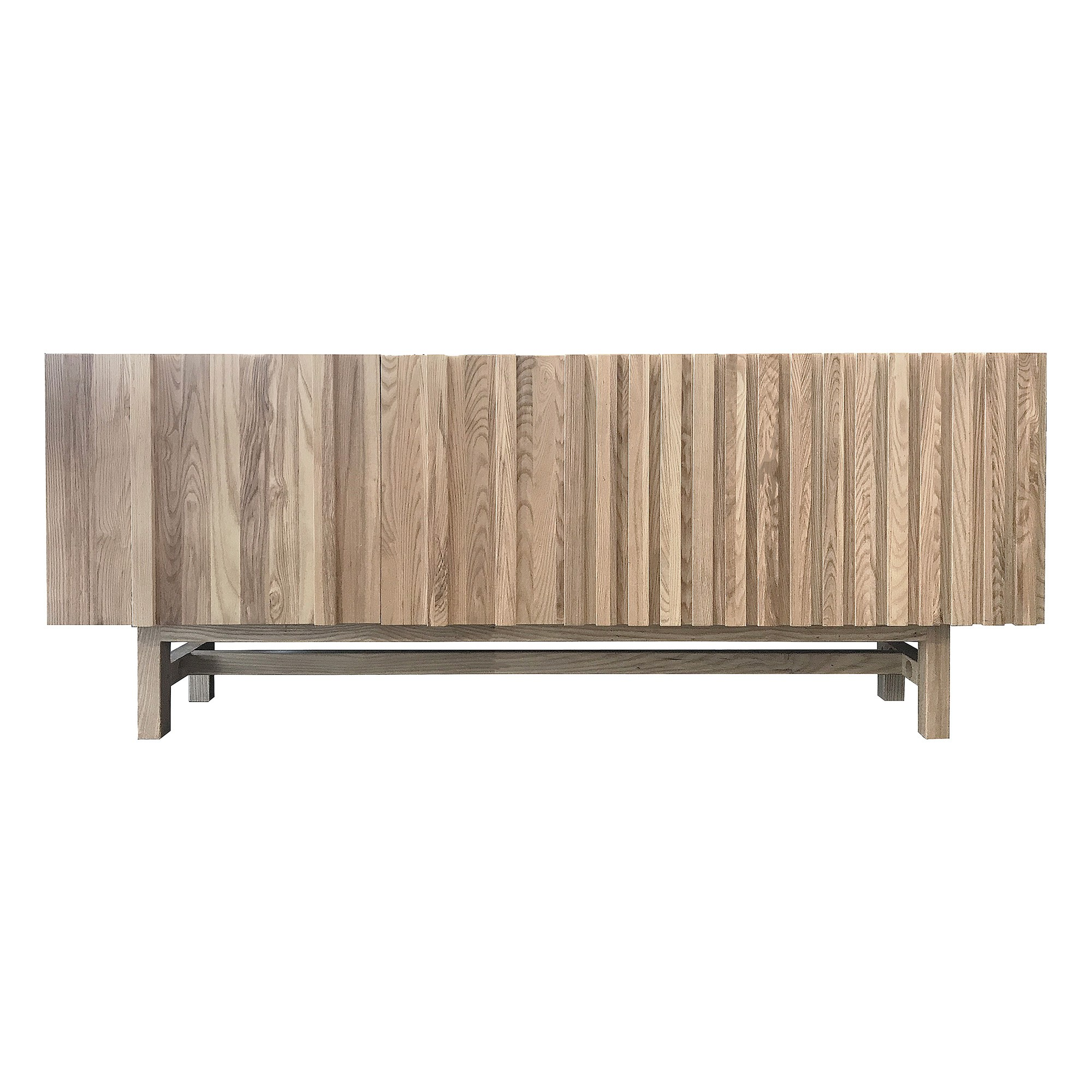 Doby Ash Timber Sideboard, 195cm, Natural