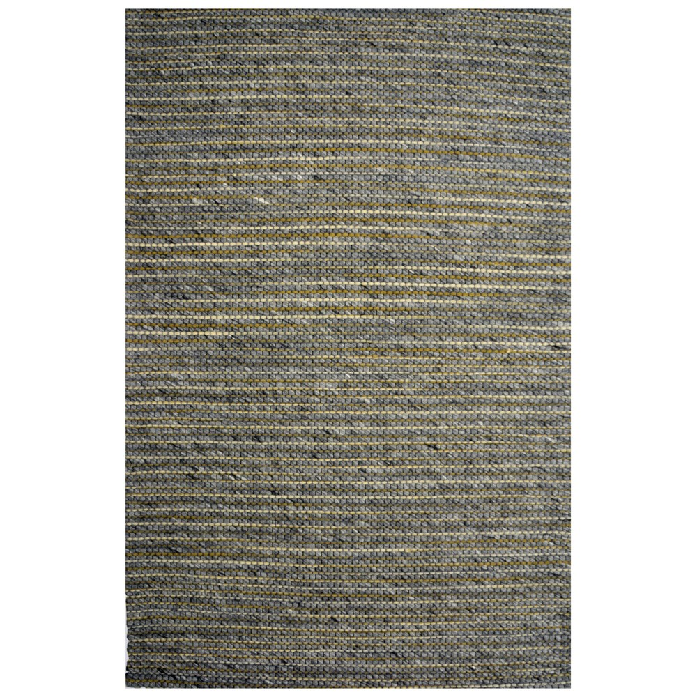 Festival Handmade Wool Rug, 230x160cm, Grey / Yellow