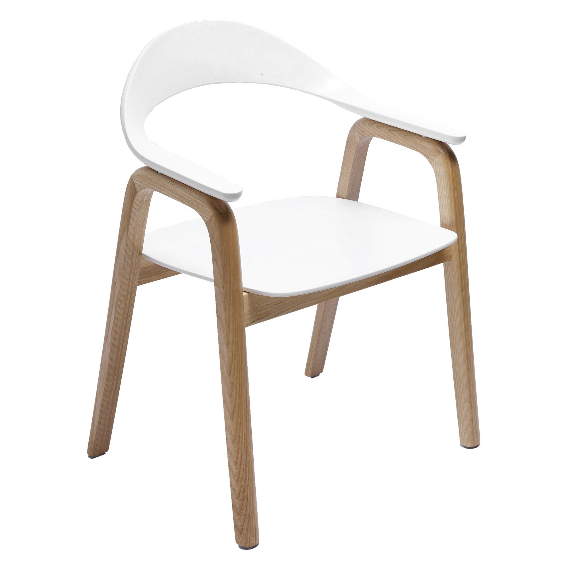 Gia Dining Chair, Natural / White