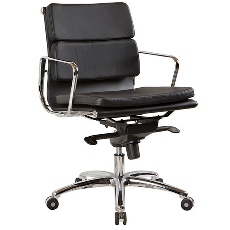 Flash Leather Executive Office Chair, Low Back