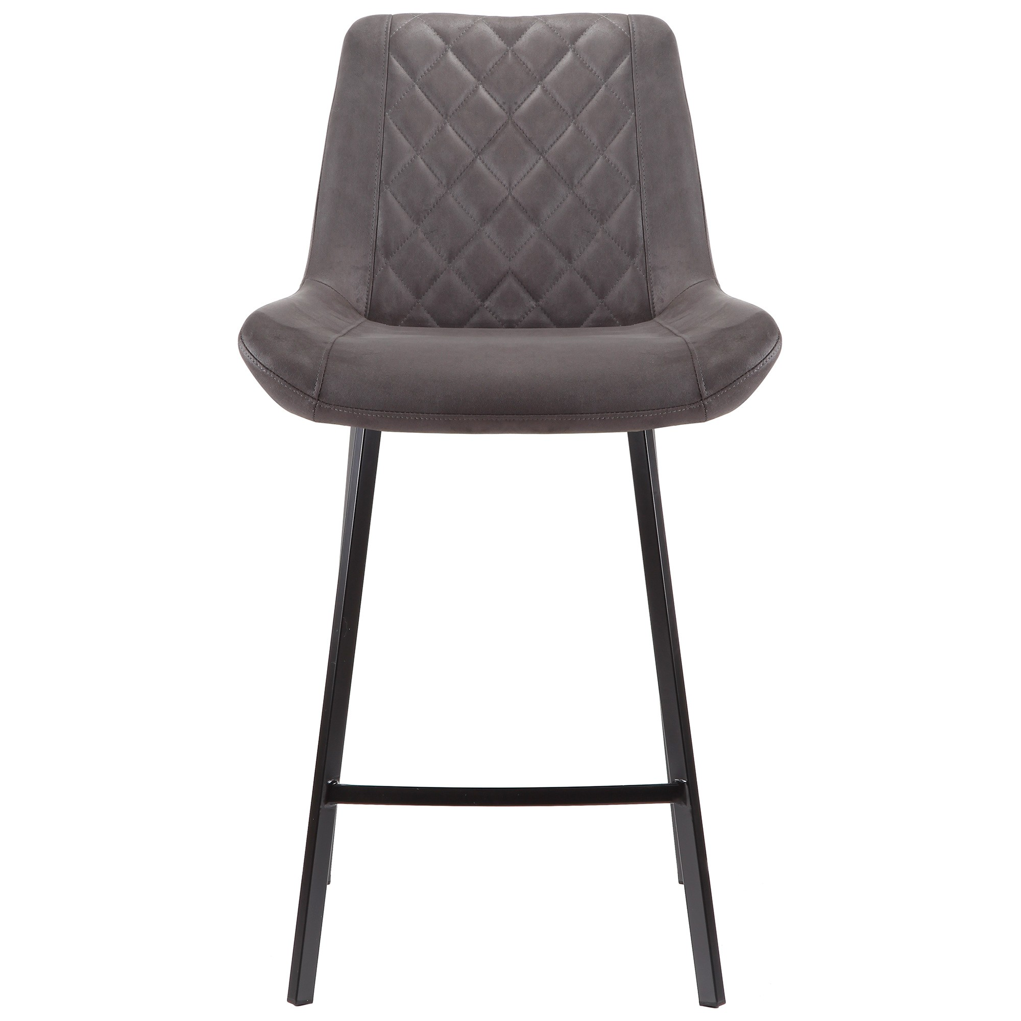 Syed Ultrasuede Fabric Counter Stool, Charcoal