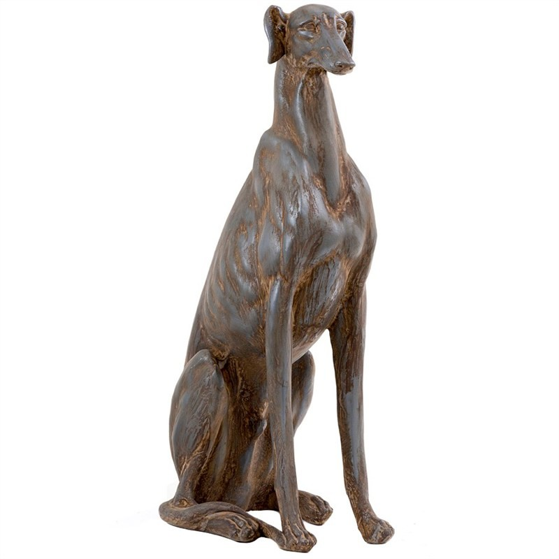 Sebastian The Greyhound Resin Statue