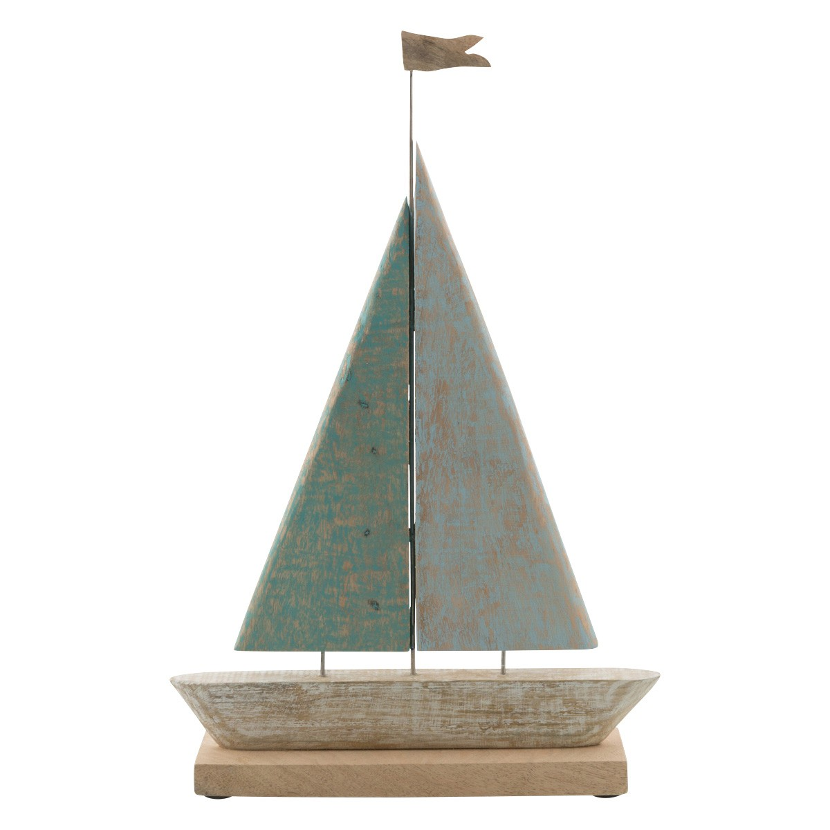 Cottesloe Mango Wood Sailboat Statue, Large