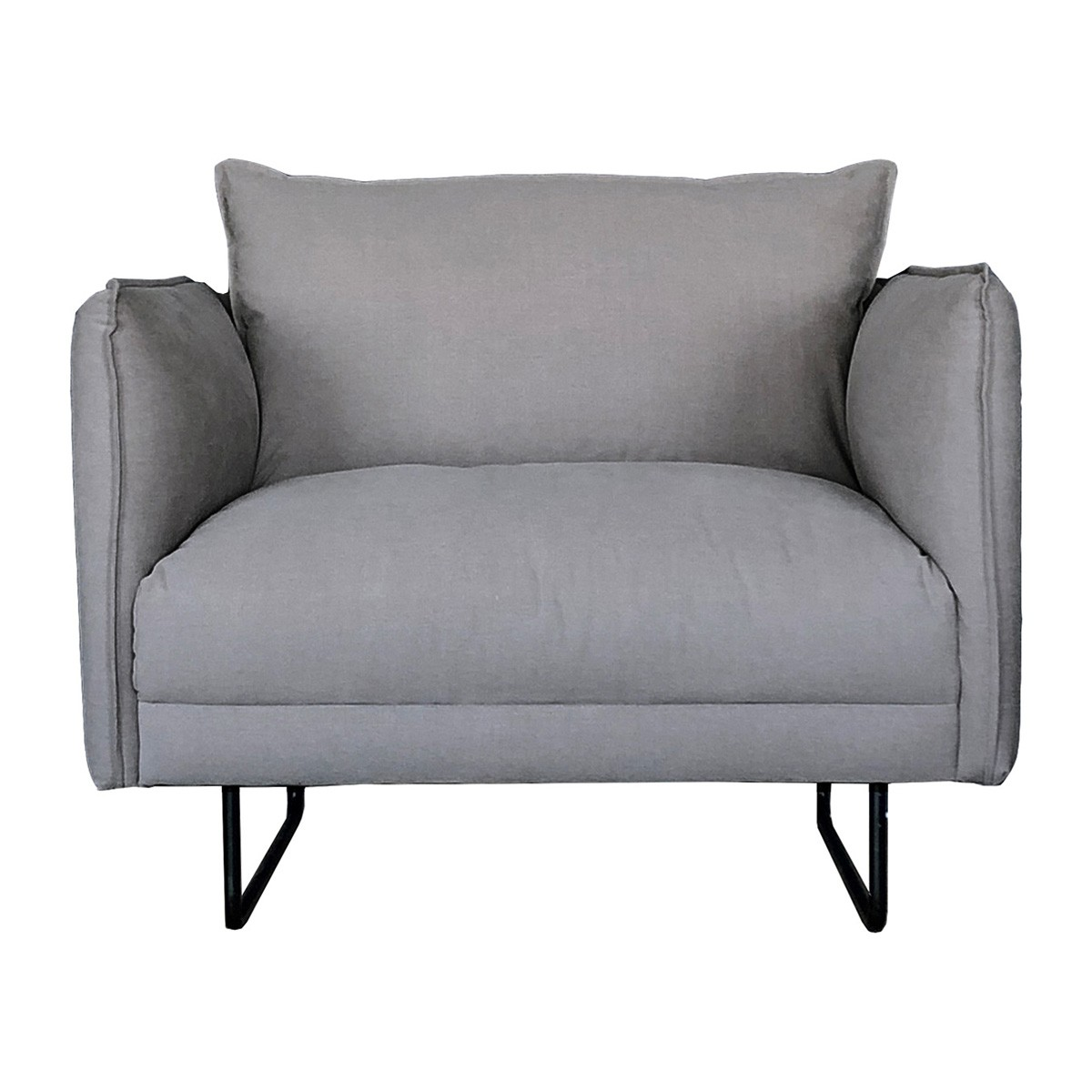 Millicent Fabric Armchair, Grey