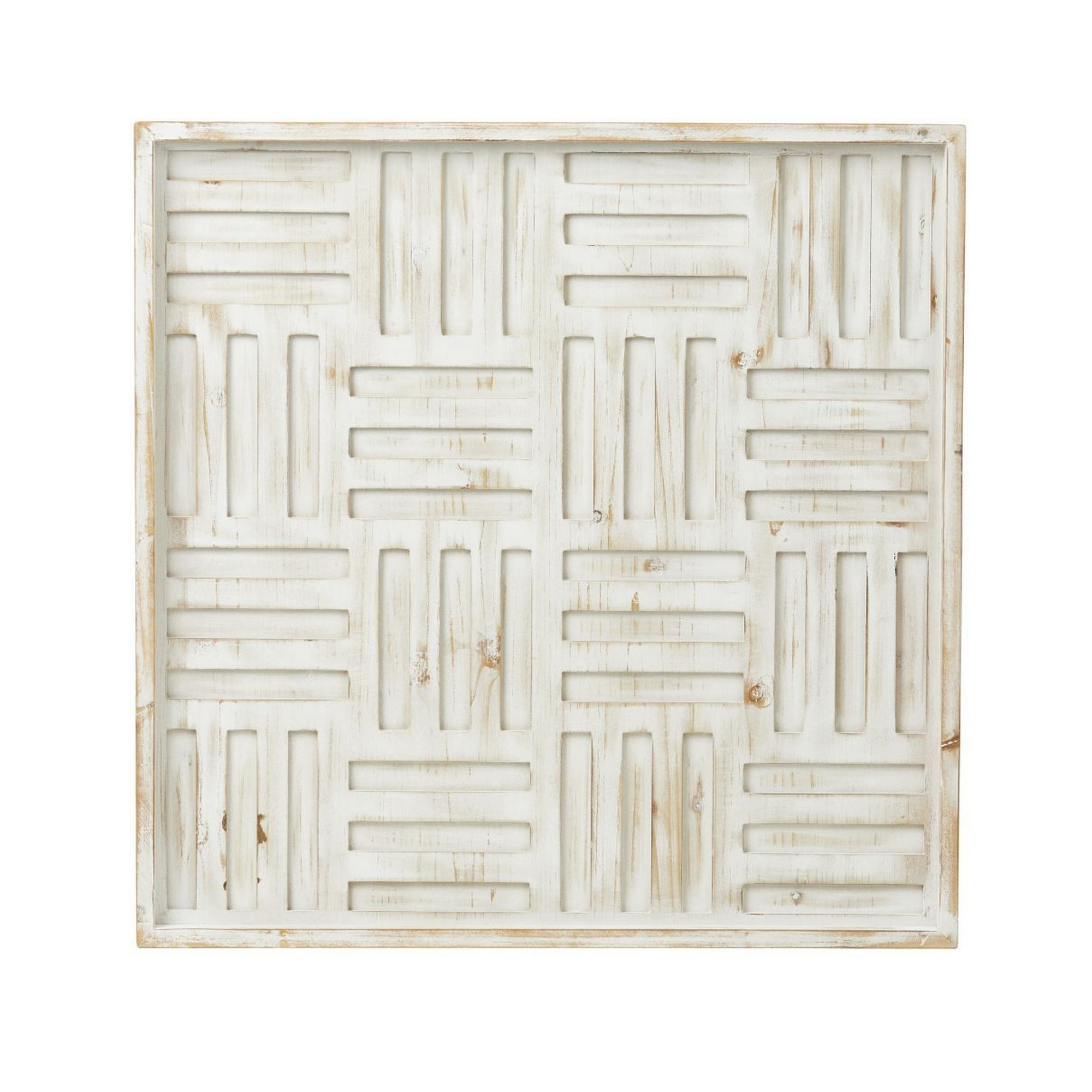 Labyrinth Fir Timber Wall Decor, 60cm