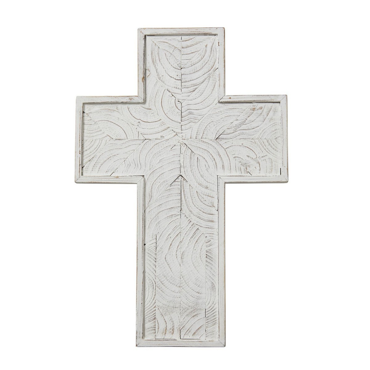 Northford Wooden Cross Wall Decor, Large