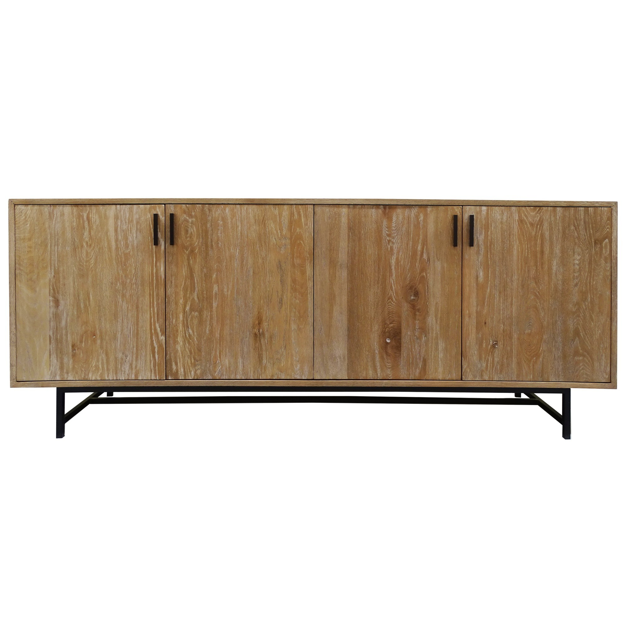 Rhonda Oak Timber 4 Door Buffet Table, 200cm