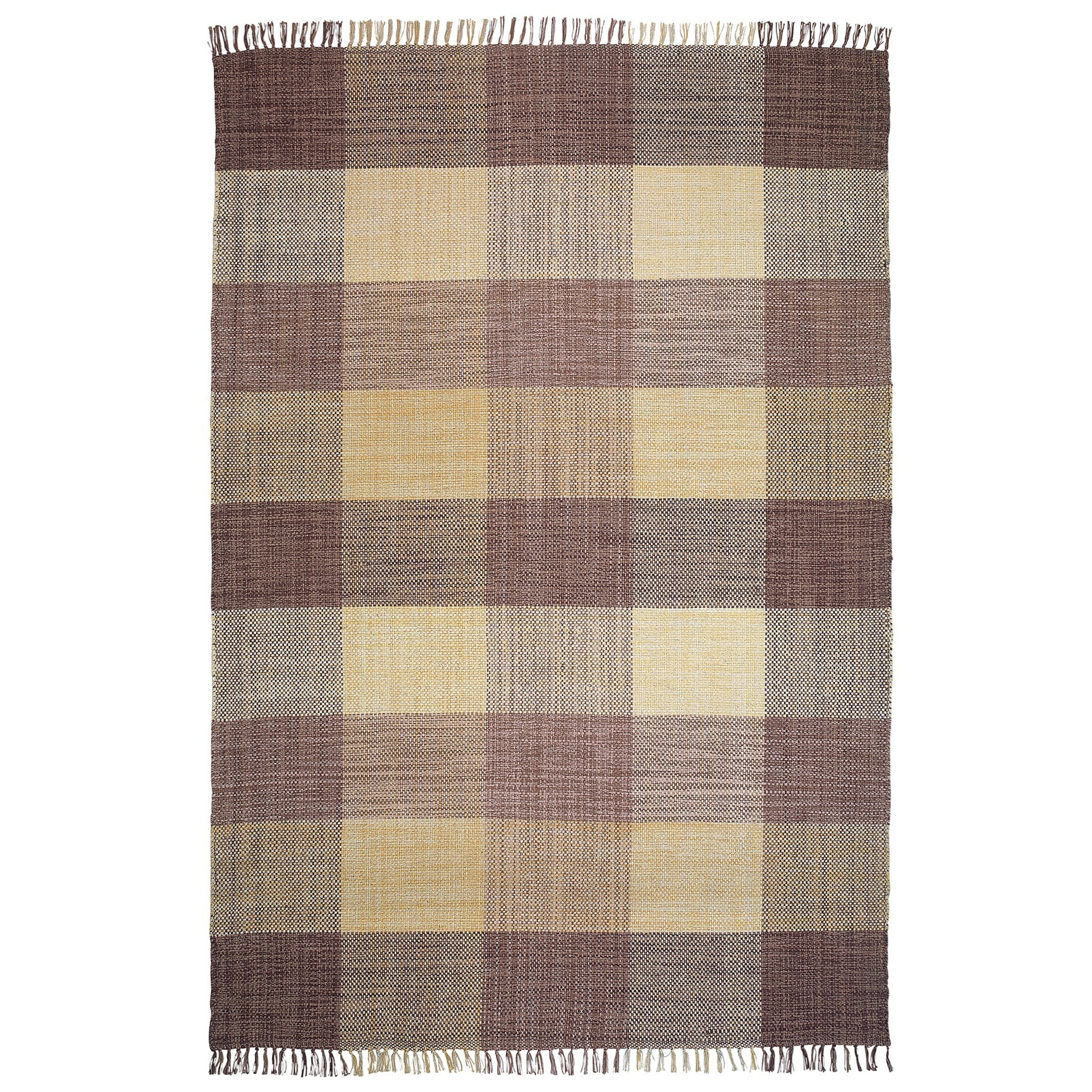 Oxford No.189 Cotton Modern Rug, 290x200cm, Beige