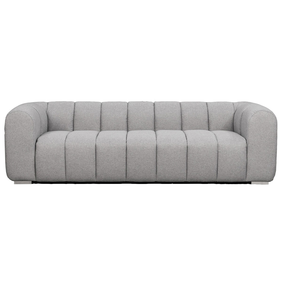 Clarence Fabric Sofa, 4 Seater, Grey
