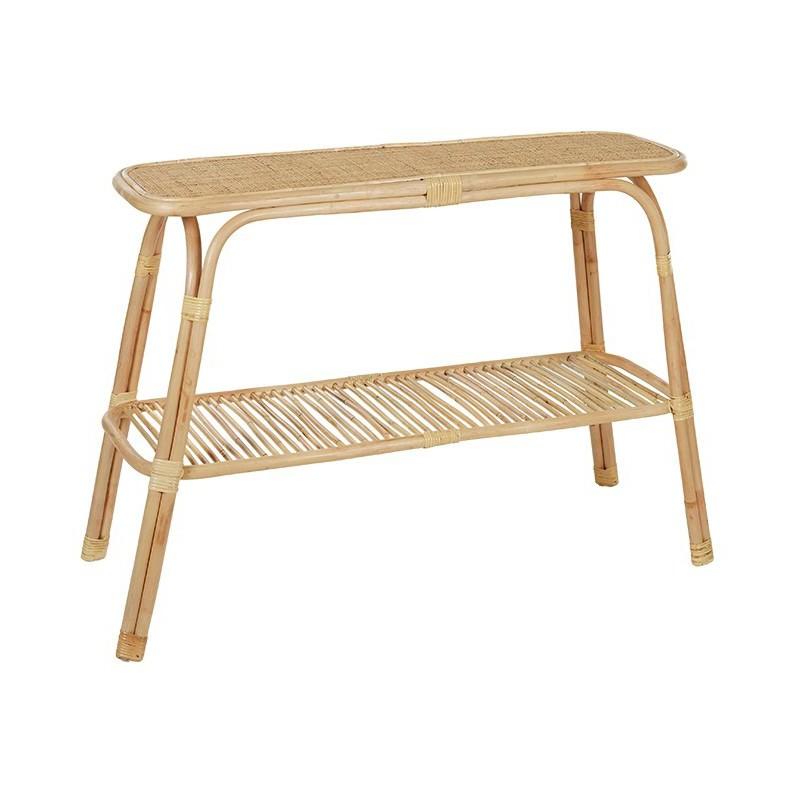 Montez Rattan Console Table, 110cm