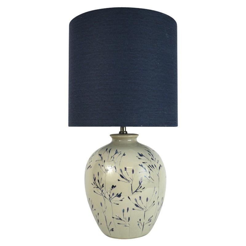 Emika Hand Painted Ceramic Base Table Lamp