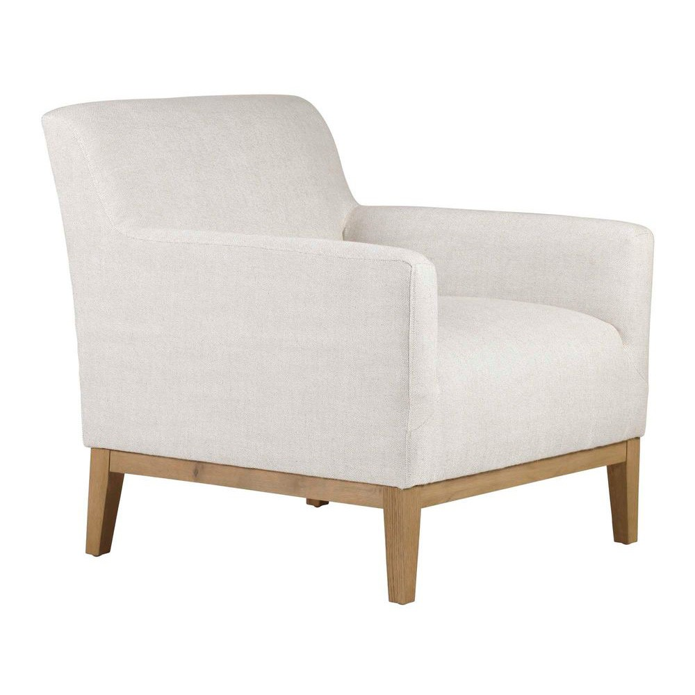 Logan Fabric Armchair, Off White