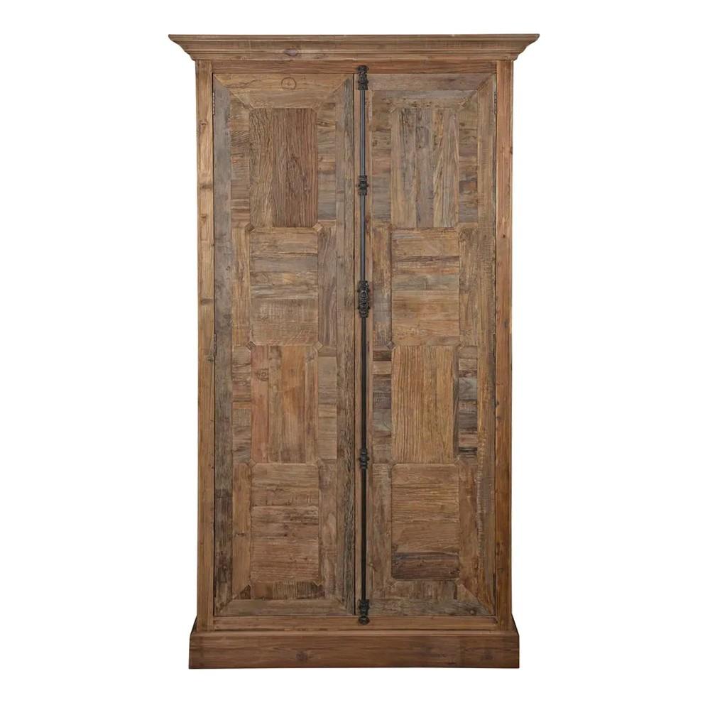 Jarvis Parquet Timber 2 Door Cupboard, Natural