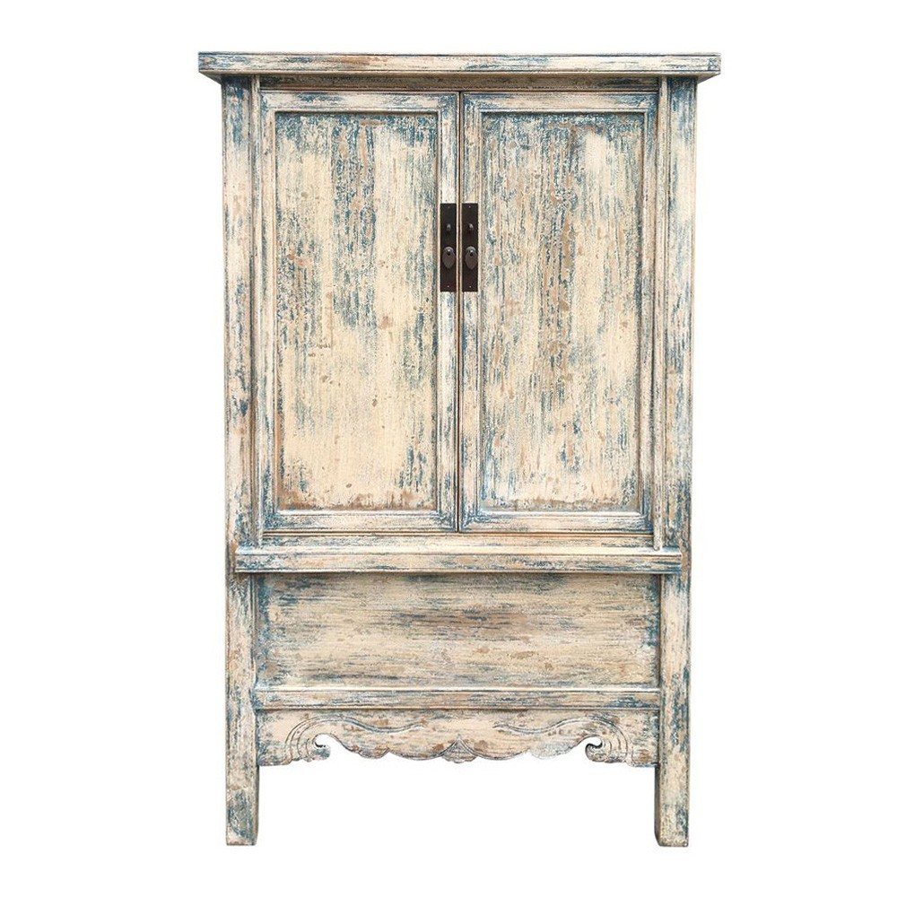 Whitman Antique Oriental Elm Timber 2 Door Wardrobe