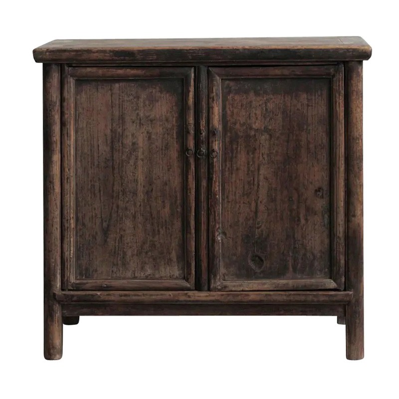 Feiyu 130 Year Antique Elm Timber Oriental Side Cabinet, No.1362