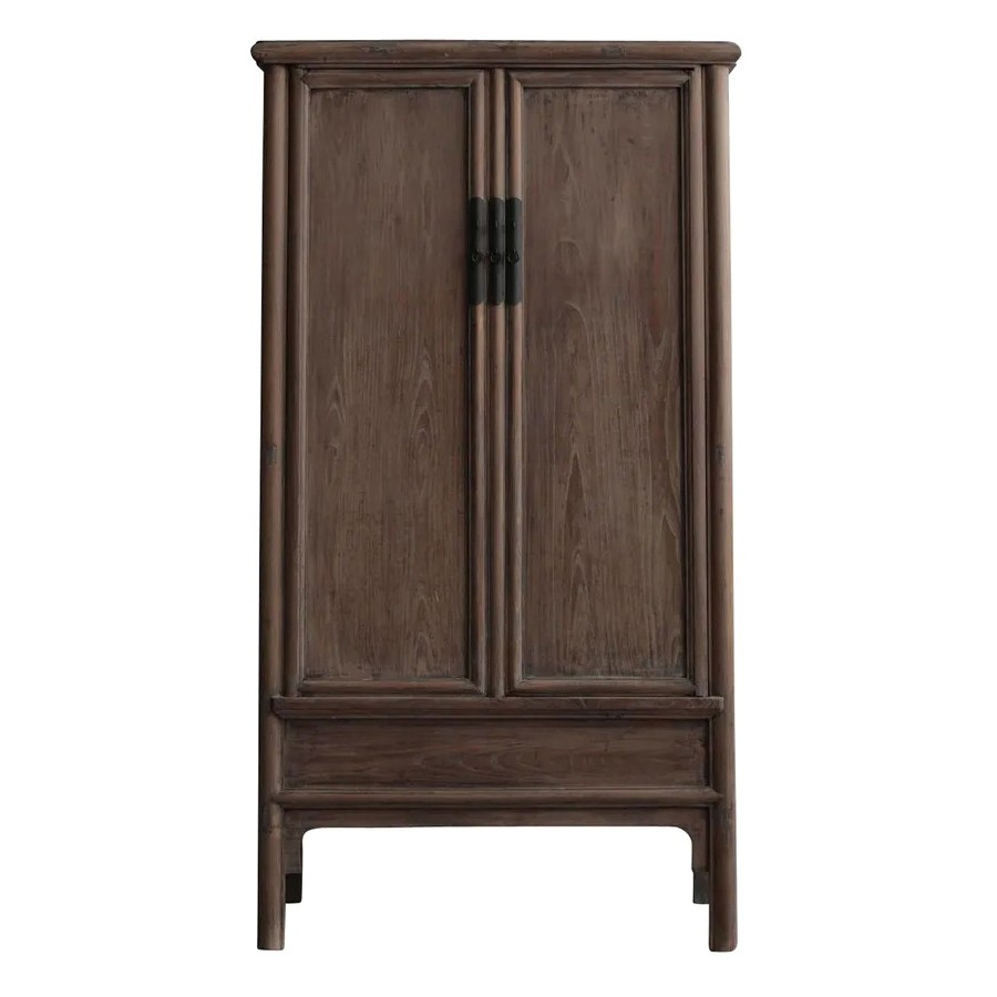 Dongting 130 Year Antique Elm Timber Oriental Wardrobe, No.1439