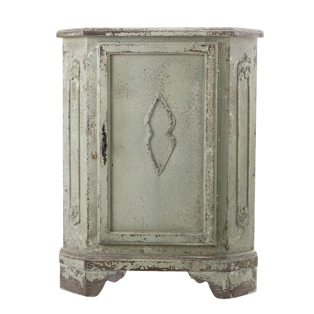 Juliette Distressed Timber Corner Cabinet