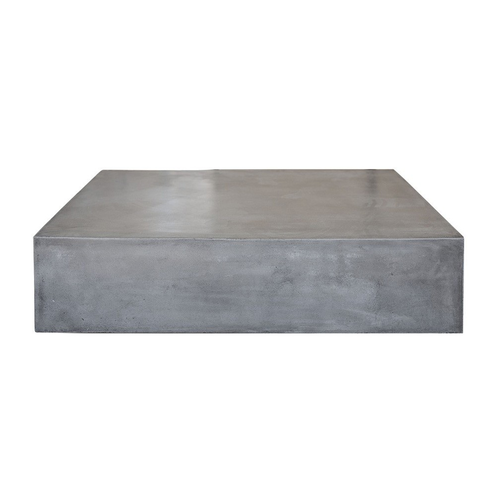 Miami Concrete Outdoor Square Coffee Table, 110cm