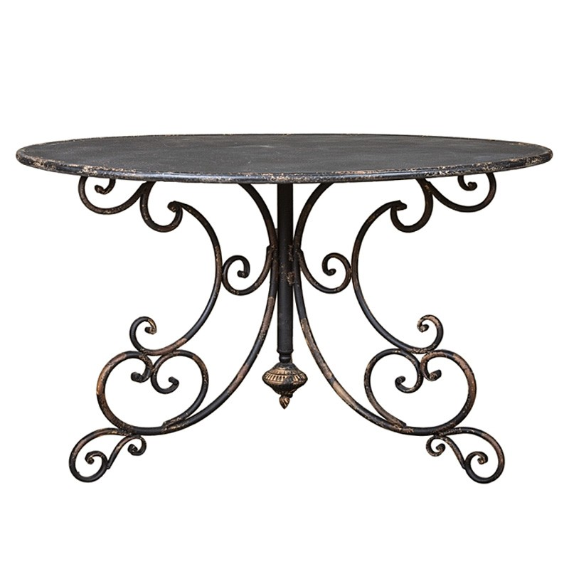 Juliette Metal Round Dining / Hall Table, 120cm