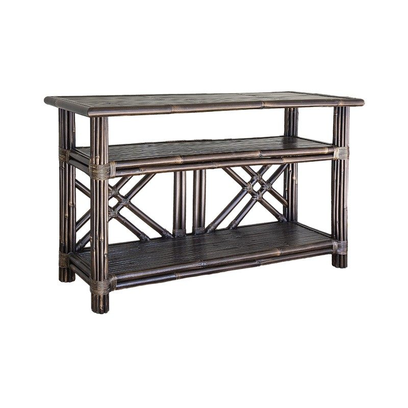 Bahama Bamboo Console Table, 160cm, Brown