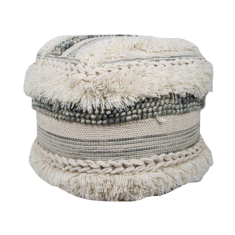Cacey Fabric Pouf