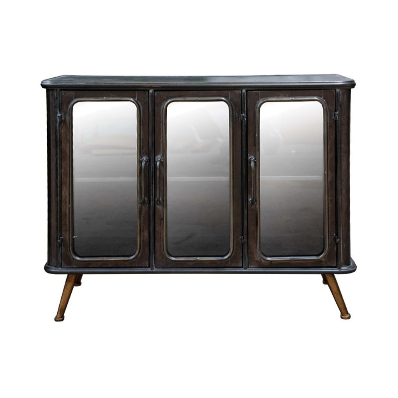 Bentley Metal 3 Door Sideboard, 100cm