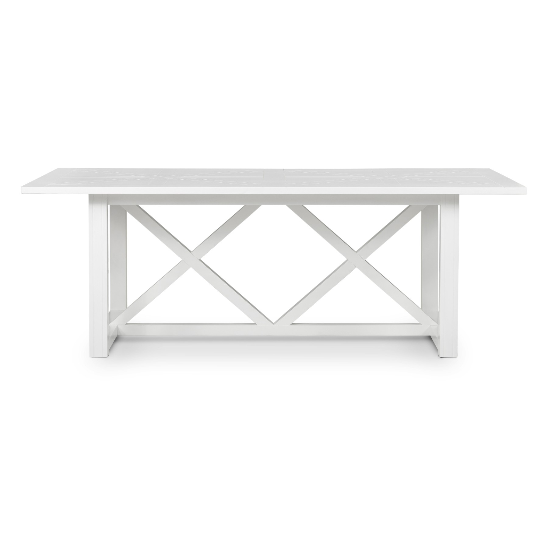 Sorrento Wooden Dining Table, 220cm, White
